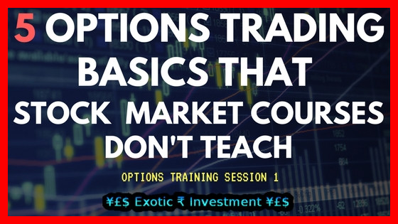 Options Training Session 1: 5 Option Trading Tips that Stock Market Courses Don't Ever Teach