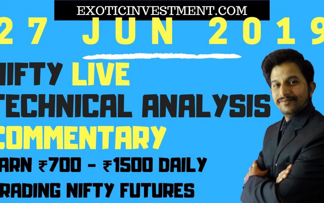 Nse Live Market 27th June 2018:  Nifty Live Index Commentary Starting Before the Pre Open Market Opening